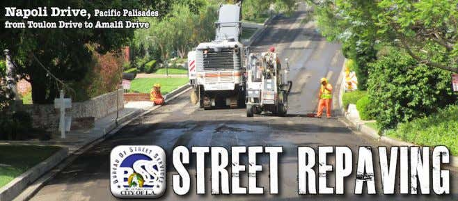Street Repaving Repaving on on the the Westside Westside City City Bureau Bureau of of Streets