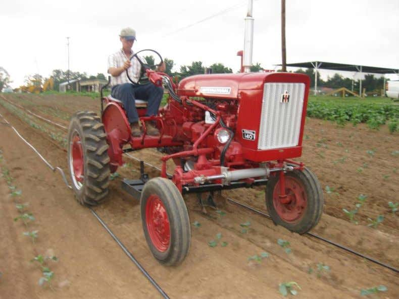 Figure 3. Farmall 140 Cultivating Tractor There are two main applications for cultivating vegetables, cultivating