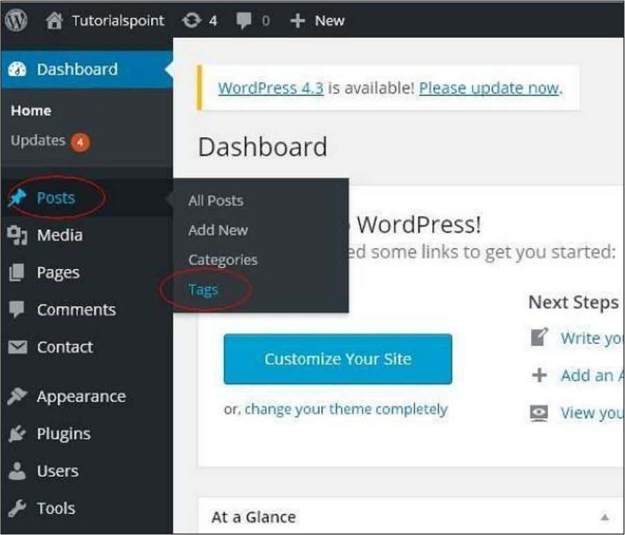 very easily. Following are the steps to Add Tags in WordPress. Step (1): Click on Posts