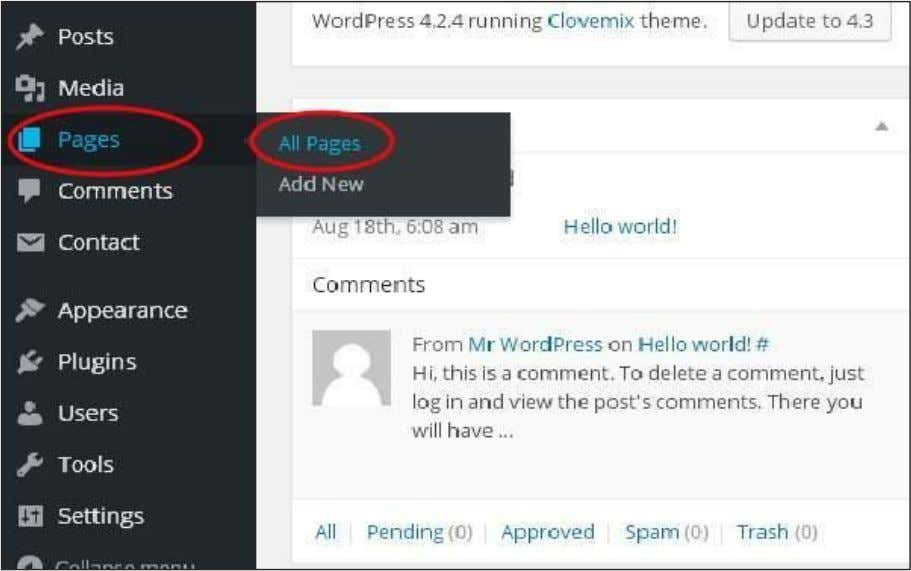 Following are the simple steps to Add links in WordPress. Step (1) : Click on Pages