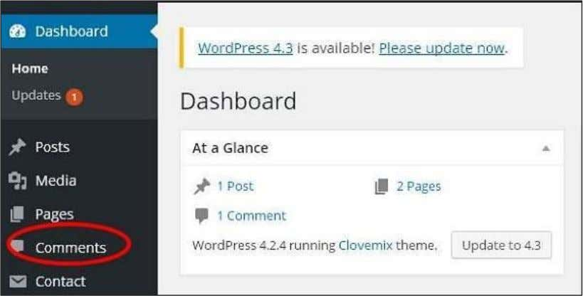 in WordPress. Step (1) : Click on Comments in WordPress. Step (2) : You can view