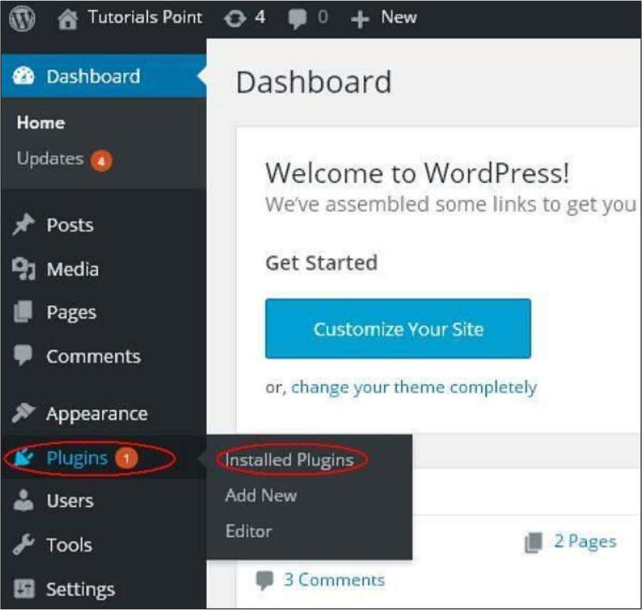 to View Plugins in WordPress. Step (1) : Click on Plugins --> Installed Plugins in WordPress