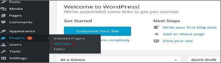 Step (1) : Click on Plugins --> Add New in WordPress. Step (2) : Enter your