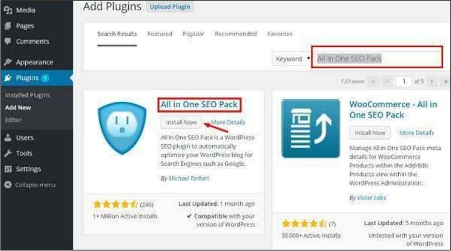screen. List of plugins which are relevant to the plugins name will get displayed as seen