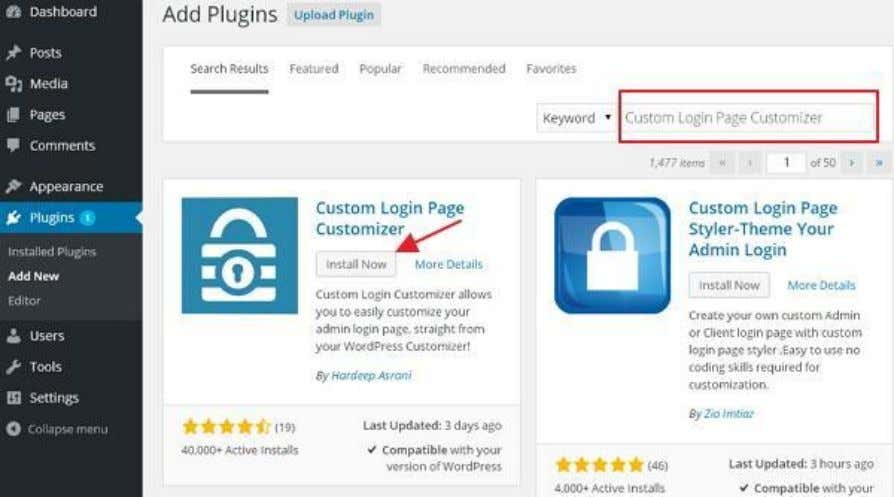 (1) : Click on Plugins -> Add New . Step (2) : Install and activate the