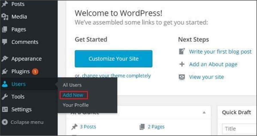 Following are the simple steps to Add Users in WordPress. Step (1) : Click on Users