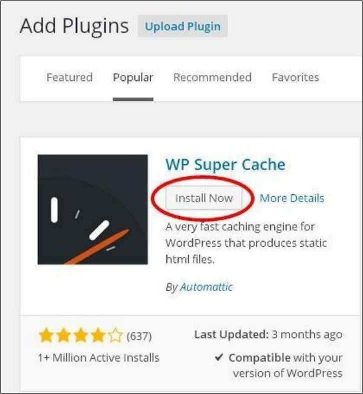 you can directly choose the plugin that you need and click on Install now as seen