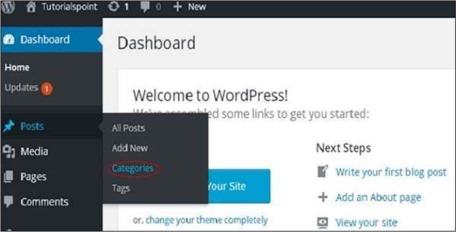 Step (1) : Click on Posts -> Categories in WordPress. Step (2) : You can delete