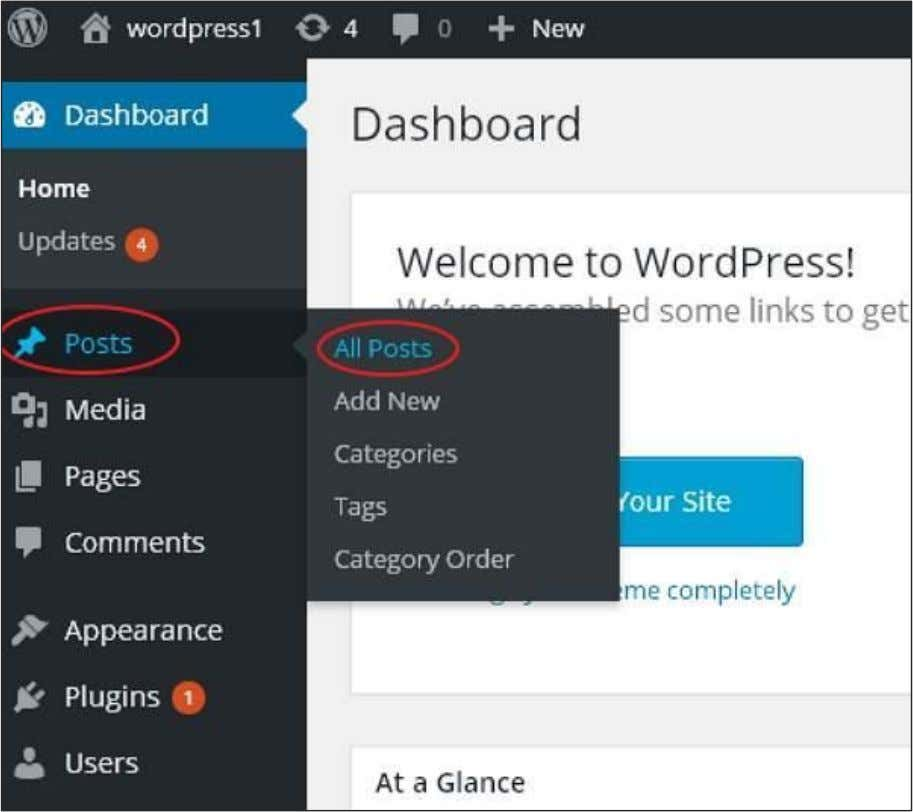 Following are the steps to Delete Posts in WordPress. Step (1) : Click on Posts --