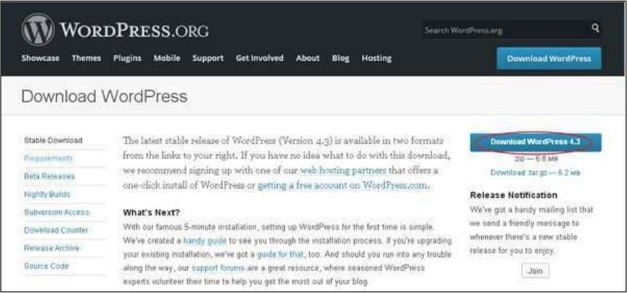 WordPress Download the WordPress zip file from the official site. Create Store Database  WordPress requires