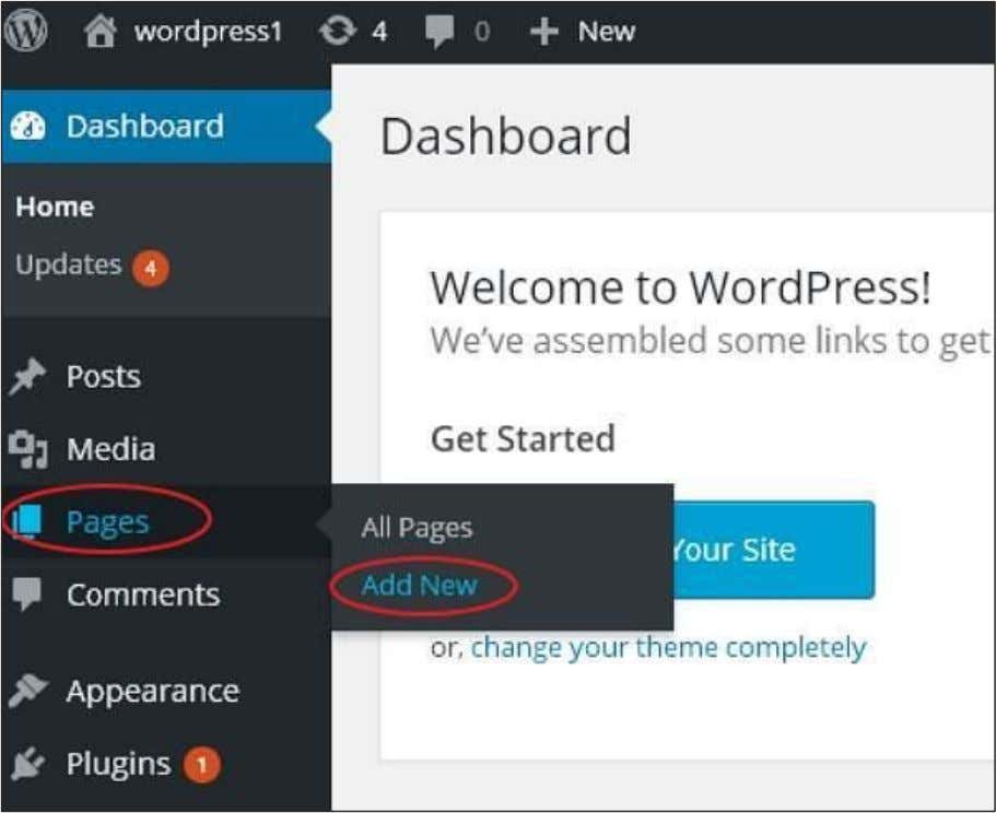 Following are the steps to Publish Pages in WordPress. Step (1) : Click on Pages -->