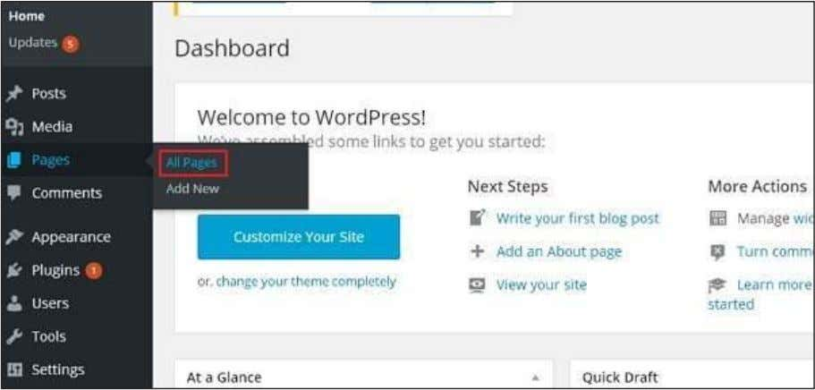 All Pages in WordPress as shown in the following screen. Step (2) : You can view