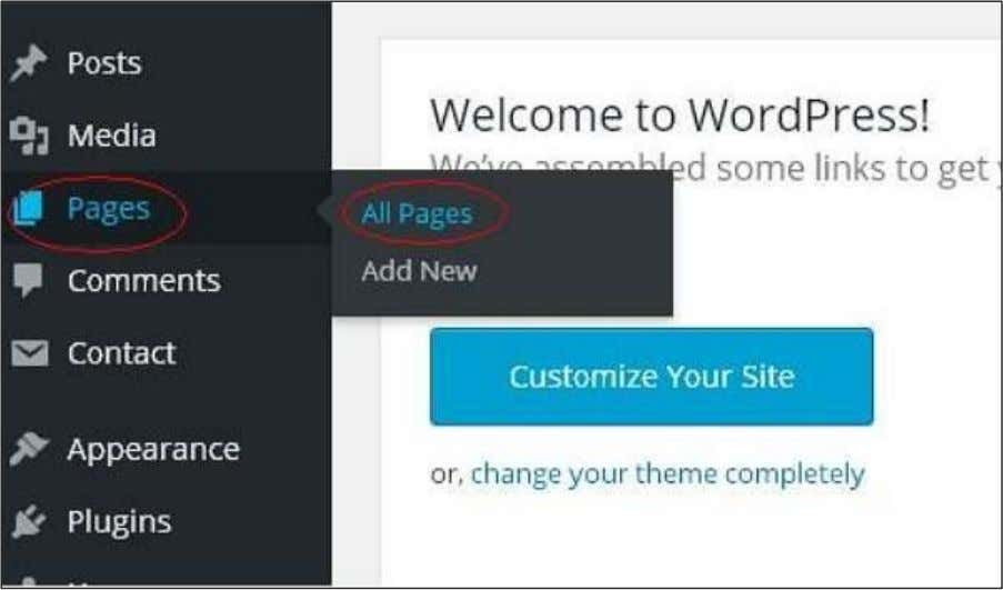Following are the steps to Delete pages in WordPress. Step (1): Click on Pages -> All