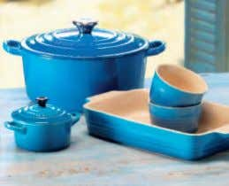 until 5pm Monday to Friday. Or email helpline@lecreuset.co.uk www.lecreuset.co.uk New Colour Marseille Recipe collection