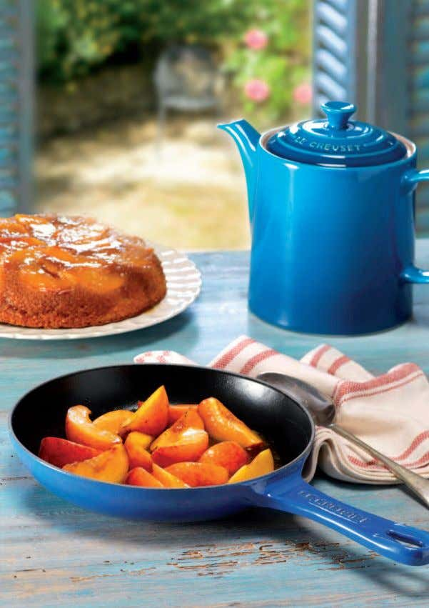 Caramelised Peach and Almond Cake Serves 4-6 This sticky cake takes its inspiration from the