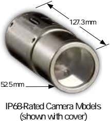 127.3 mm 52.5 mm IP68-Rated camera Models (shown with cover)