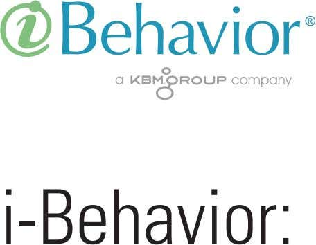 i-Behavior: