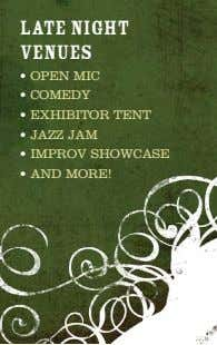 Late night venues • oPeN MiC • CoMeDY • exHiBiToR TeNT • Jazz JaM •