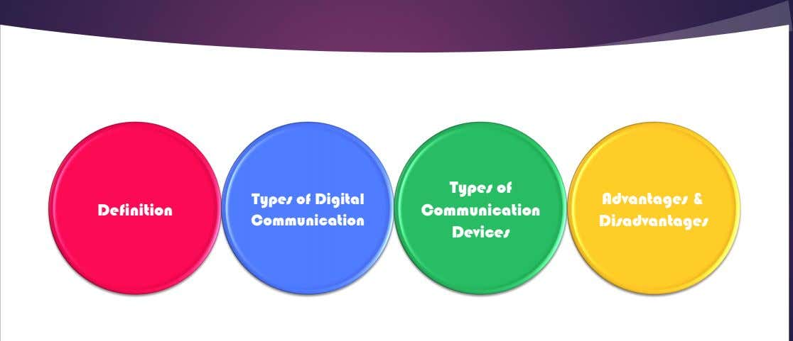 Definition Types of Digital Communication Types of Communication Devices Advantages & Disadvantages