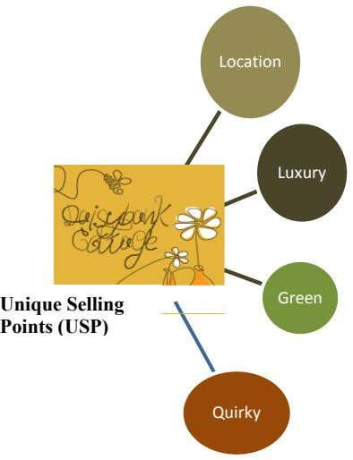 Location Luxury Green Unique Selling Points (USP) Quirky