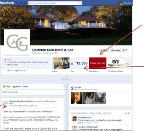 24 Daisybank Cottage Facebook Insights (Facebook, 2013) Professional and consistent with brand image Visually