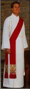 worn for more solemn occasions. The deacon wears his stole when carrying out his office in