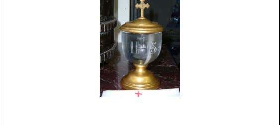 holy sacrifice of the Mass. In this vessel, wine and water are miraculously transformed into the