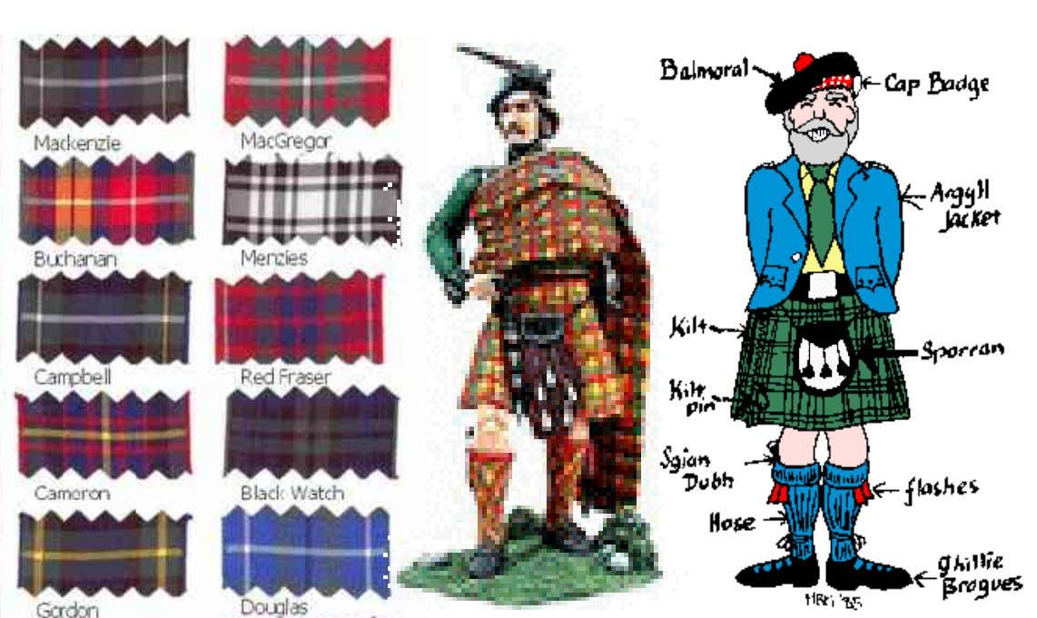 Clans and Traditional Dress Dewhurst: WS 2004/05 Lecture: An A-Z of British Culture