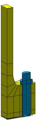 the finite elements of the reauired density distribution) FE model of the bolted joint of the