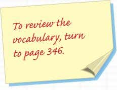 To review the turn vocabulary, to page 346.