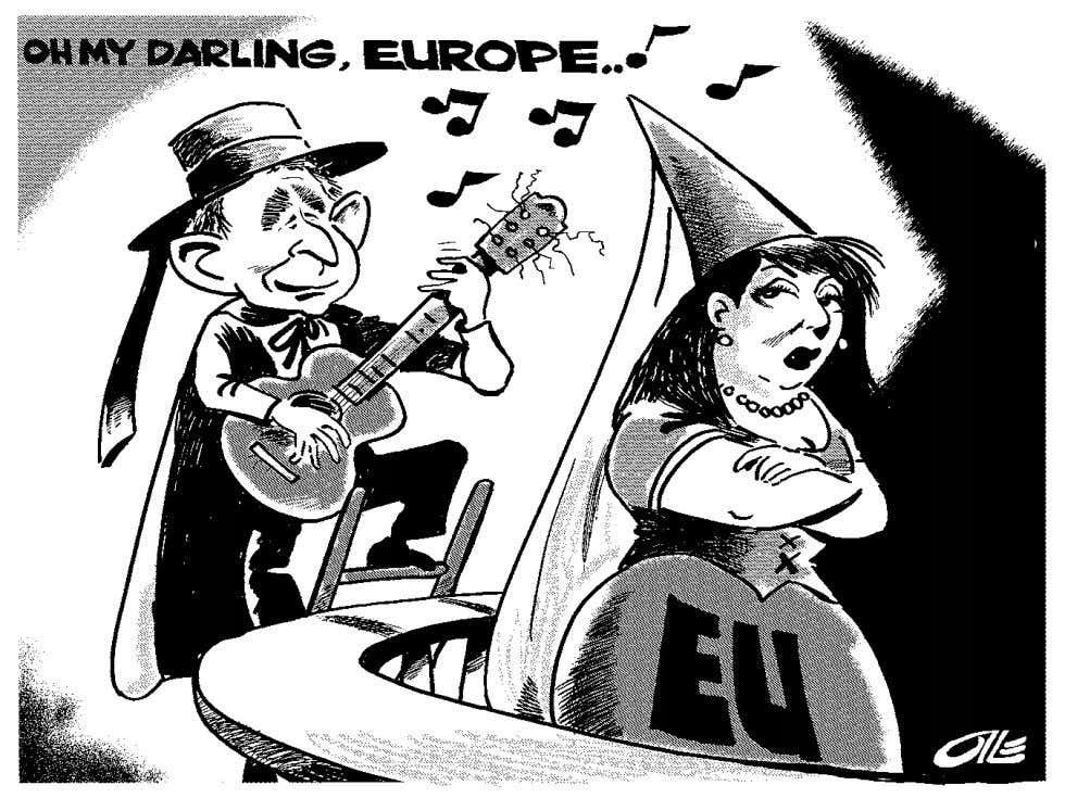 Olle Johansson—All Rights Reserved. Politicalcartoons.com Figure 2.2 Happy Birthday Europe. © Copy- right 2007