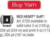Buy Yarn RED HEART ® Soft ® , Art. E728 available in solid color 5