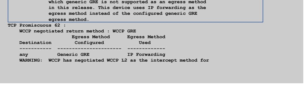 which generic GRE is not supported as an egress method in this release. This device