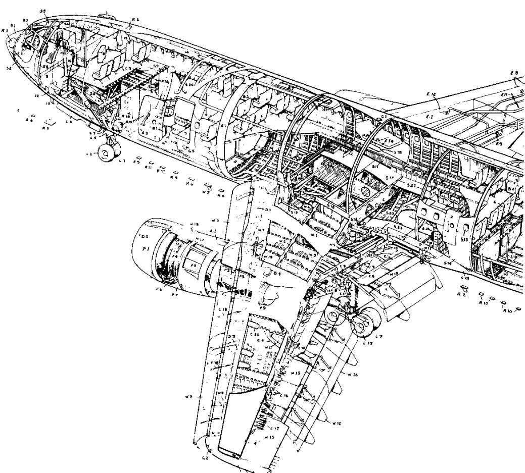 20 Understanding Aircraft Structures Fig. 2.9 Structural detail. Airbus A300B. (Courtesy of Airbus Industry S.A.)