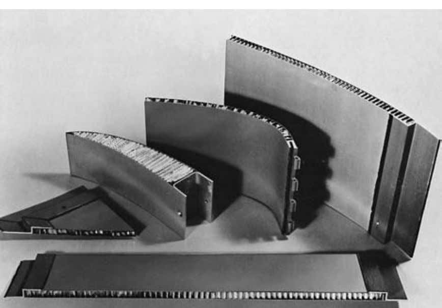 a sandwich panel. (Courtesy of Ciba-Geigy, Bonded Structures Fig. 2.14(b) Division, Cambridge.) Typical sandwich