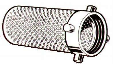 Figure 20). It is used on the exterior of the metal strainer Figure 19 : Metal