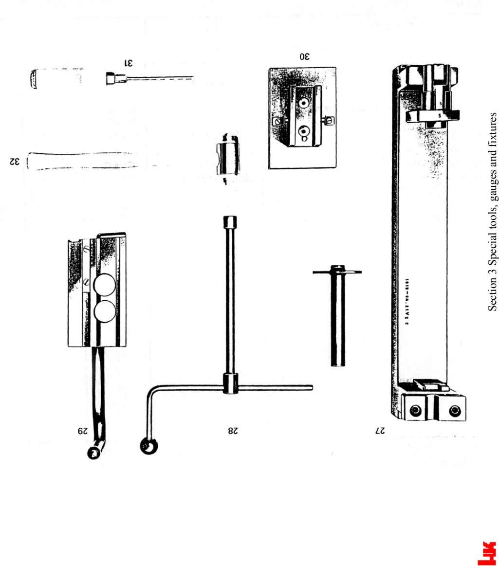Section 3 Special tools, gauges and fixtures