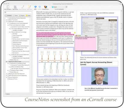 CourseNotes screenshot from an eCornell course