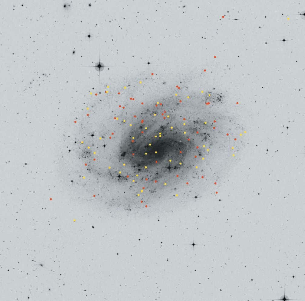 Figure 2: The Sculptor Group galaxy NGC 300, with Cepheids discovered by Pietrzynski et al.