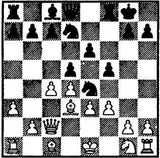 Nimzo-Indian: 4 Q-B2, P-Q4 Variation 7 White now makes the play that would have cost him