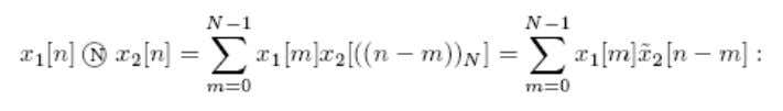 The N-point circular convolution of x1[n] and x2[n] is It is easy to see that the