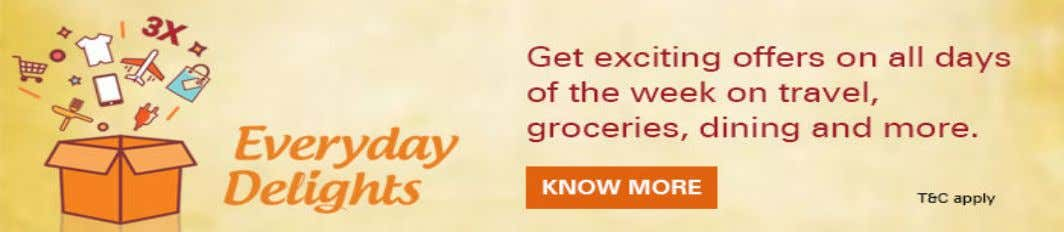 electronic gadgets when you buy with your ICICI Bank Credit Card at our partner outlets. Click
