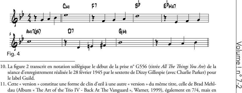 Volume ! n° 7-2 Fig. 4 10. La figure 2 transcrit en notation solfégique le