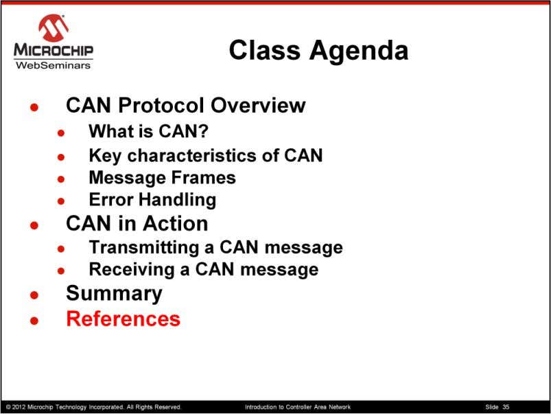 Here are some ref for the CAN protocol 35 35