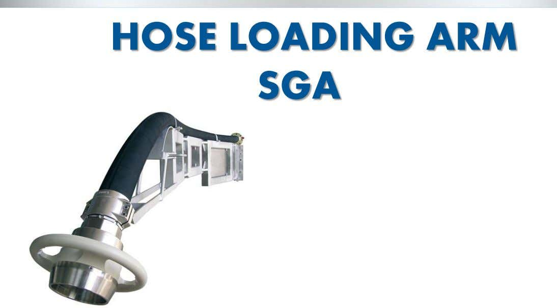 HOSE LOADING ARM SGA