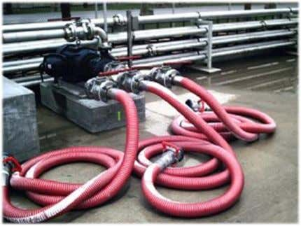 "dry seal fittings in diameters from 1"" to 10"". TANK TRUCK HOSE Nitrile tube designed for"