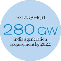 DATA SHOT 280 GW India's generation requirement by 2022.
