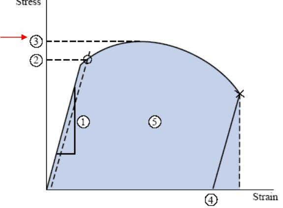 than the yield strength by a factor ranging from 1.1 to 3. • Ductility The tensile
