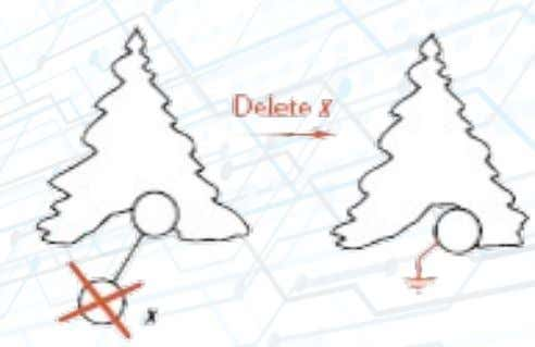 Delete node from BST Deletion of a leaf : Set the deleted node's parent link to