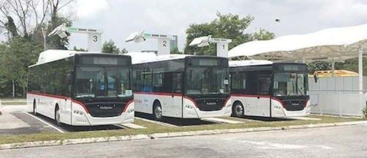 of a high-power demo project for electric buses in Malaysia. Connector SWG Photo: Hasetec IEC 's
